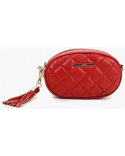 Поясная сумка кожаный красная Aldo