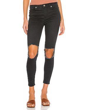 Рваные джинсы-скинни на молнии с пайетками Free People