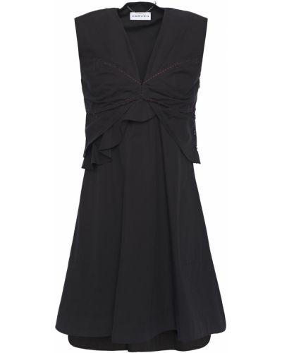 Хлопковое платье мини - черное Carven