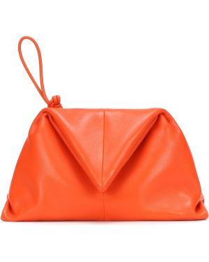 Pomarańczowa torebka mini skórzana Bottega Veneta