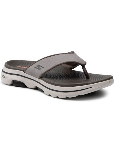 Szare sandały na lato Skechers