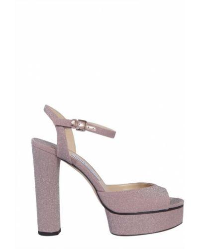 Sandały skorzane z paskiem Jimmy Choo