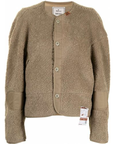 Бежевая куртка с заплатками Maison Mihara Yasuhiro