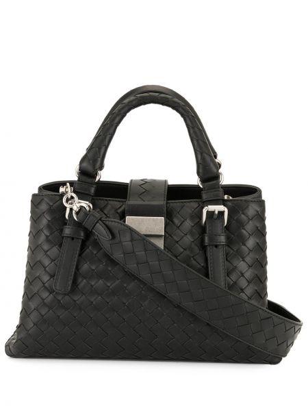 Черная сумка-тоут круглая на молнии с карманами Bottega Veneta