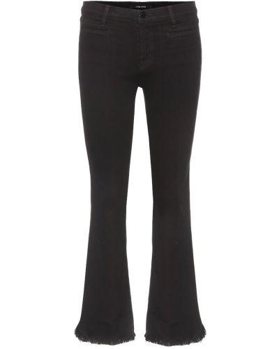 Укороченные джинсы свободные расклешенные J Brand