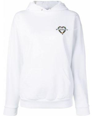 Bluza z kapturem z kapturem biały Givenchy