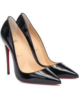 Черные туфли-лодочки из натуральной кожи Christian Louboutin
