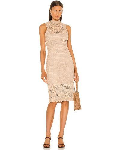 Платье миди без рукавов для полных с подкладкой 525