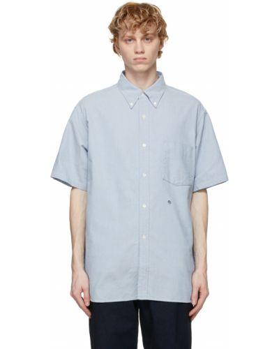 Biała koszula oxford bawełniana krótki rękaw Nanamica