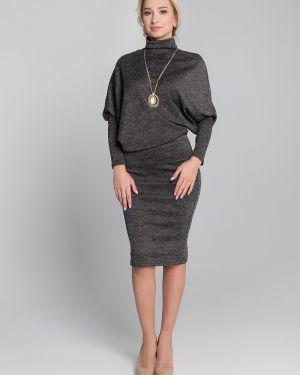 Платье миди с заниженной талией повседневное Sezoni