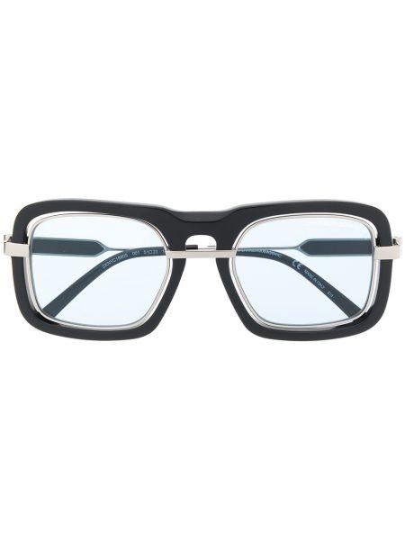 Czarne okulary z akrylu Calvin Klein 205w39nyc