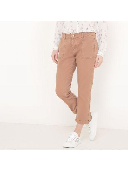 Коричневые брюки с воротником с поясом с отворотом See U Soon