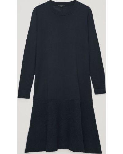 Шерстяное платье миди - синее Cos