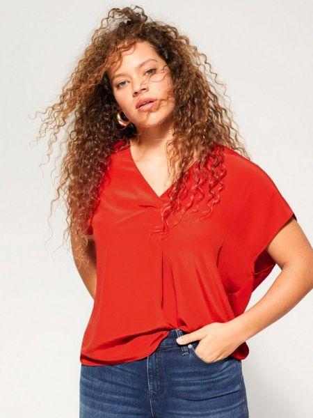 Блузка с коротким рукавом весенний красная Violeta By Mango