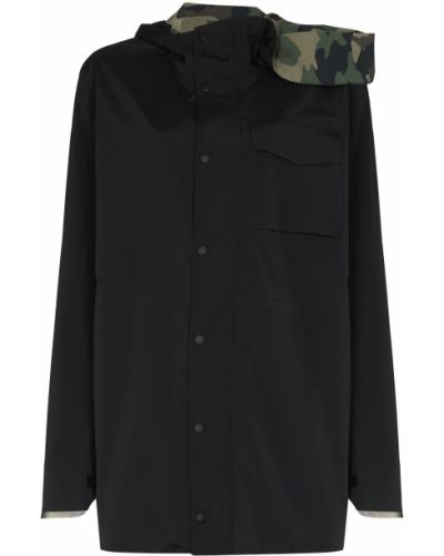 Длинная черная куртка с капюшоном Y Project