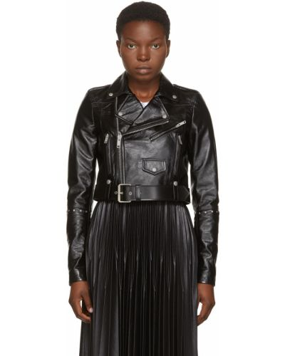 Kurtka skórzana - czarna Givenchy