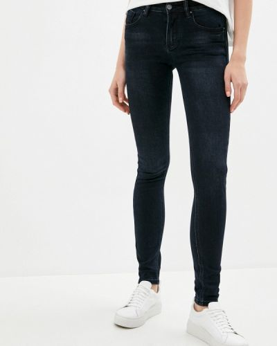 Синие джинсы-скинни узкого кроя Mossmore