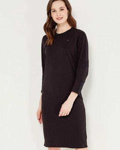 Черное платье с длинными рукавами G-star