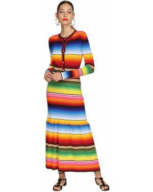 Платье миди макси в полоску Carolina Herrera