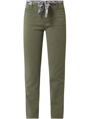 Zielone spodnie bawełniane Rosner
