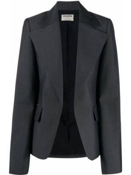 Шерстяной серый пиджак с карманами Zadig&voltaire