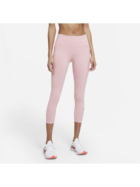 Różowe legginsy do biegania Nike