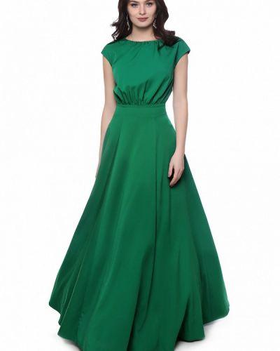 Зеленое платье осеннее Grey Cat