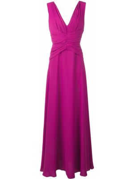 Плиссированное розовое платье на молнии без рукавов Rhea Costa