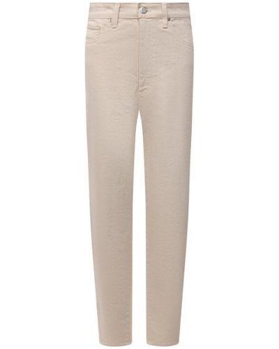 Хлопковые бежевые джинсы Ag