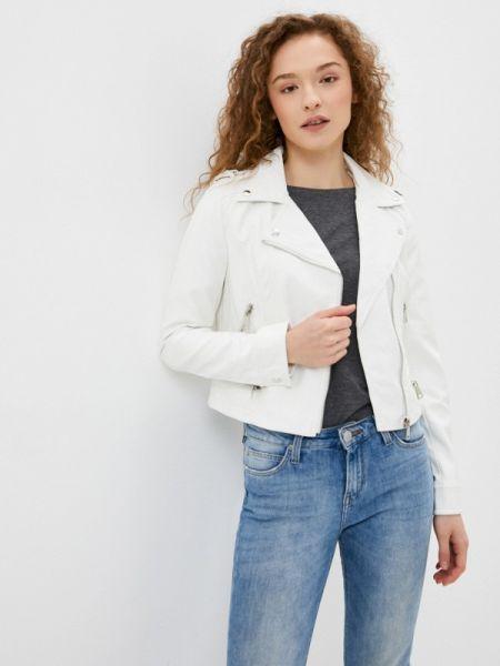 Белая кожаная куртка Softy
