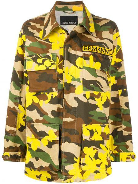Коричневая куртка милитари с воротником Ermanno Ermanno