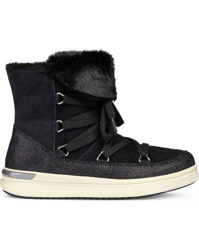 Ботинки черные коричневый Geox