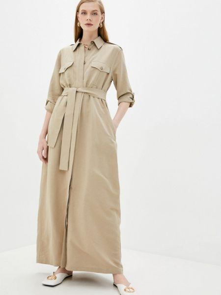 Бежевое платье Forte Dei Marmi Couture