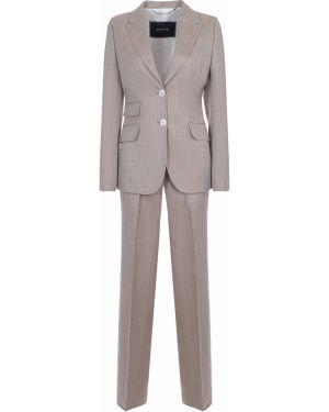 Шелковый костюм - бежевый Kiton