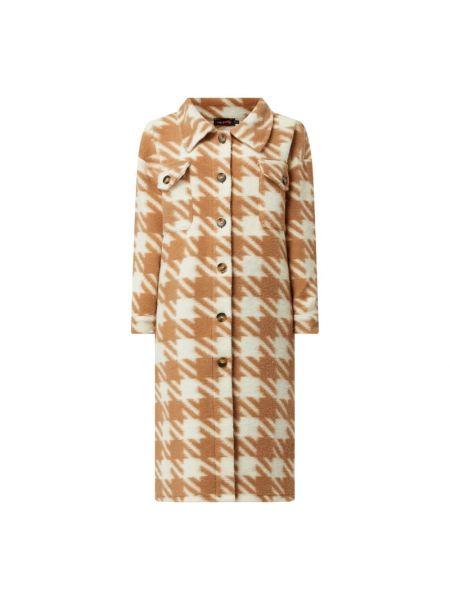 Płaszcz wełniany - brązowy Miss Goodlife