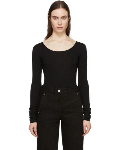 Пуловер из вискозы в полоску Lemaire