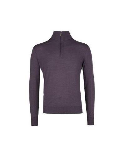 Повседневный фиолетовый свитер Castello D'oro