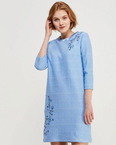Голубое платье прямое Zarina