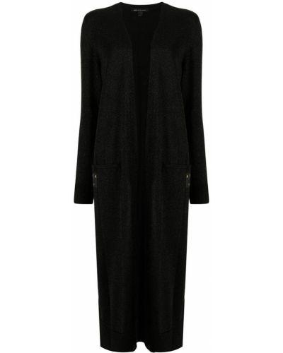 Шерстяное пальто - черное Armani Exchange