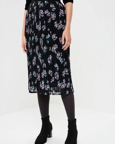 Черная плиссированная юбка B.young