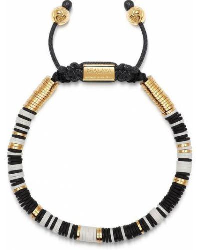 Klasyczna czarna złota bransoletka ze złota Nialaya