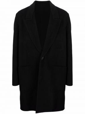 Черное пальто миди Ami Paris