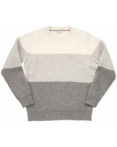 Szary sweter Brunello Cucinelli