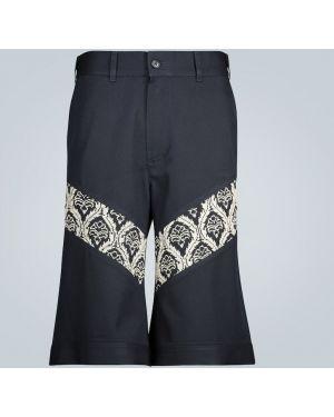 Шерстяные короткие шорты свободного кроя айвори до середины колена Adish