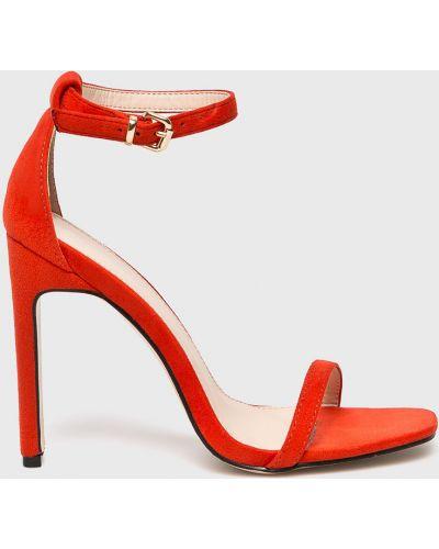 Туфли на каблуке на шпильке текстильные Public Desire
