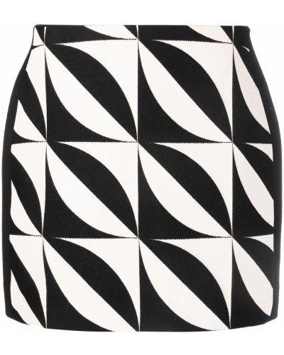 Шерстяная юбка миди - черная David Koma