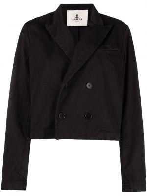 Хлопковая черная джинсовая куртка двубортная Barena