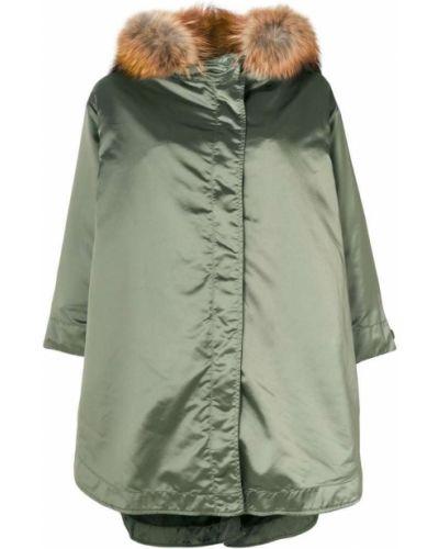 Пальто серое зеленое As65