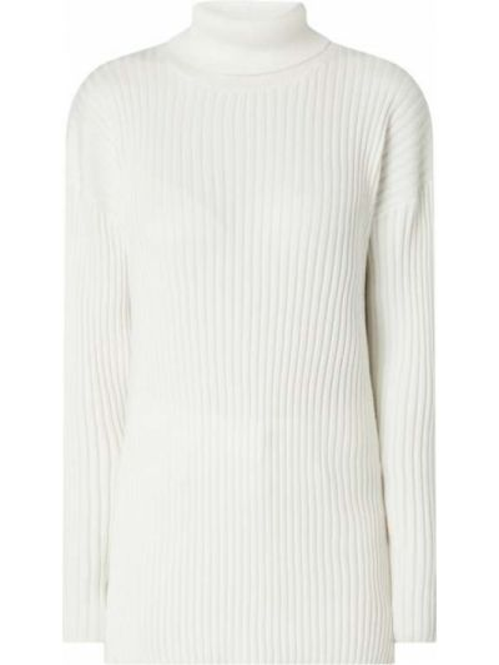 Prążkowany biały sweter z wiskozy Moss Copenhagen