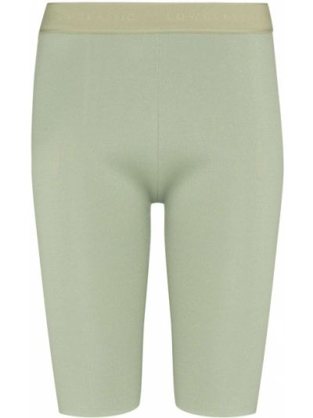 Зеленые шорты до середины колена Low Classic